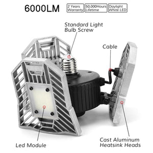 3 PACK 60W ADJUSTABLE DEFORMABLE LED LAMP