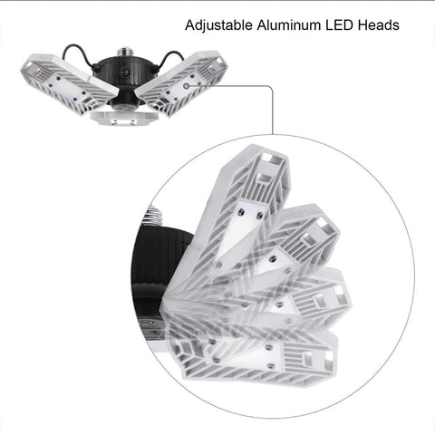 Image of 2 PACK 60W 60W Adjustable Directable LED Garage Light LED LAMP
