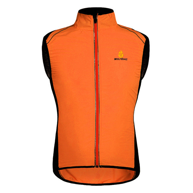 WOLFBIKE Unisex Windproof and Breathable Vest/Jacket