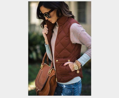 Image of Women Fashion Slim coats New Brand Women Sleeveless Jacket
