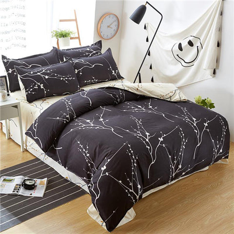 Image of Grey Flower Duvet
