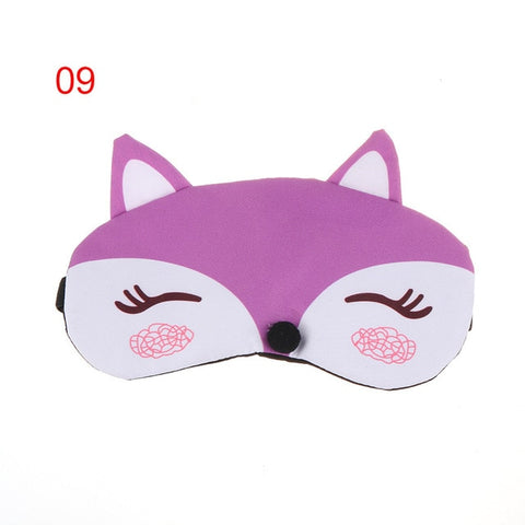 Image of Cute Cartoon Fox 3D Sleep Mask