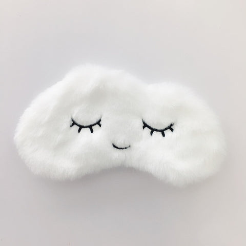 Image of Plush Cartoon Cloud Eye Mask