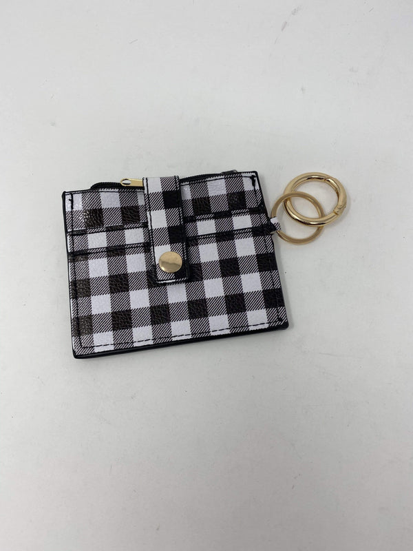 2unic Accessories Black Perfect Plaid Coin Purse