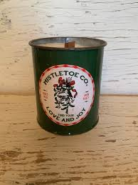 76008 Candles Candle Mistletoe Christmas Tin Candles