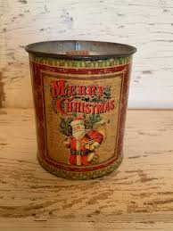 76008 Candles Candle Santa Christmas Tin Candles
