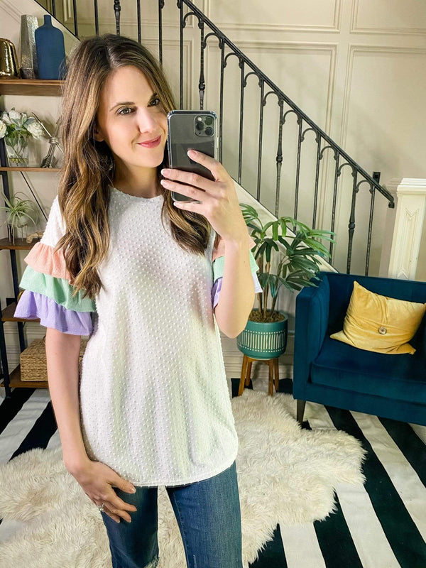 Ace Trading Top Minky Flare Top