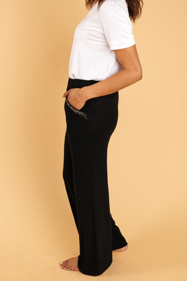 Ave Shops Womens Aria Wide Leg Bottoms