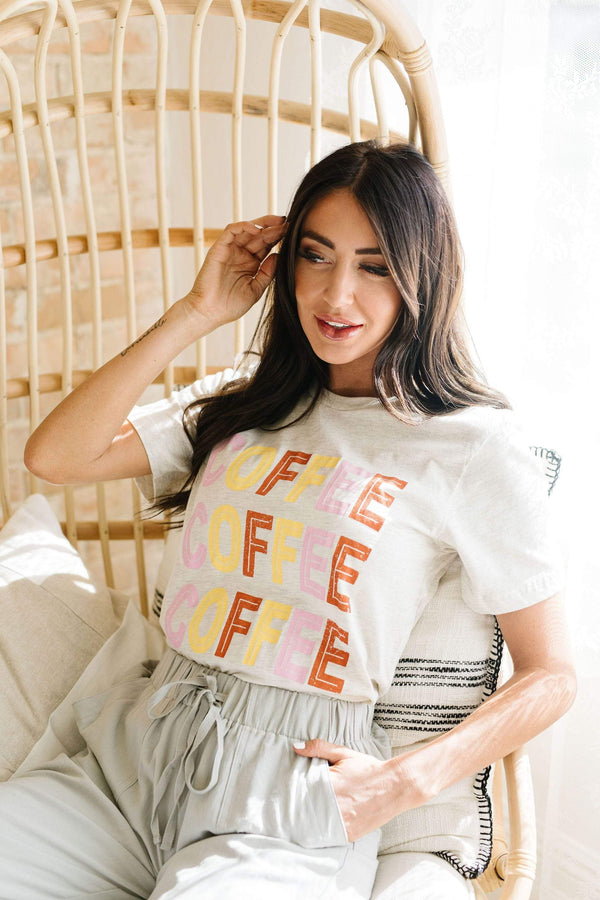 Ave Shops Womens Caffeine Addiction Graphic Tee