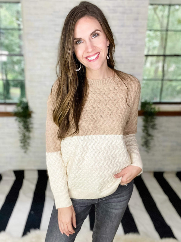 Ave Shops Womens Casually Cozy Sweater in Mocha
