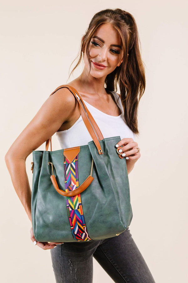 Ave Shops Womens City Chic Tote In Green