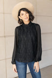 Ave Shops Womens Grace Black Lace Blouse