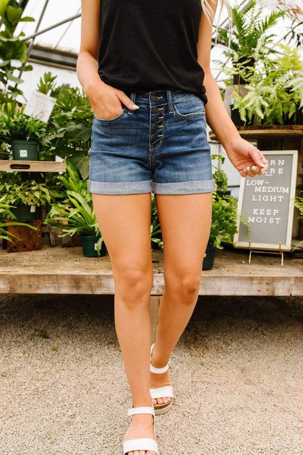 Ave Shops Womens On The Fly Medium Wash Jean Shorts by Judy Blue