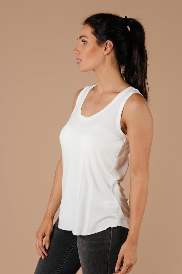 Ave Shops Womens Tank Heavens Off-White Tank Top
