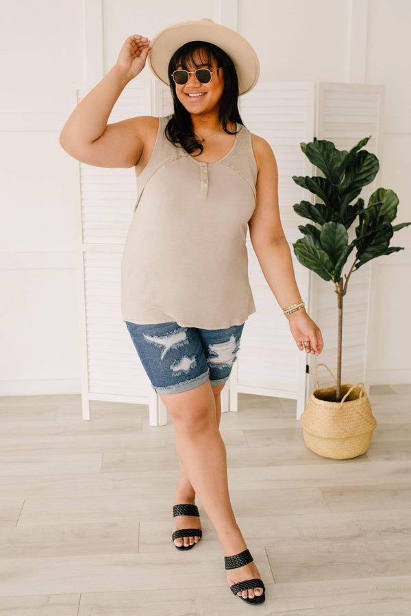 Ave Shops Womens Thank Your Tank in Taupe