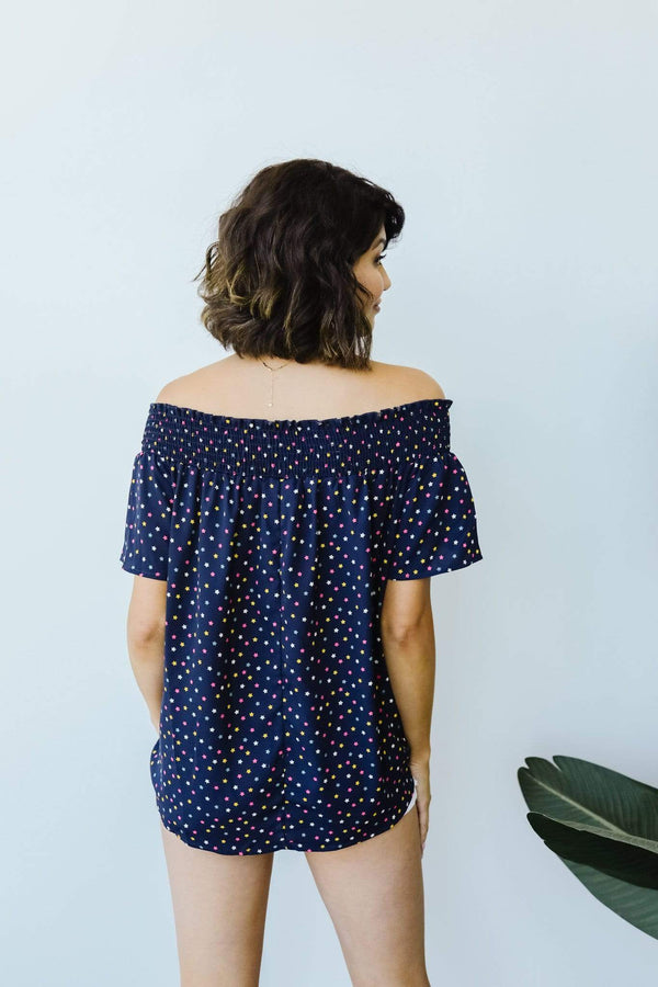 Ave Shops Womens Tiny Twinkling Top In Navy
