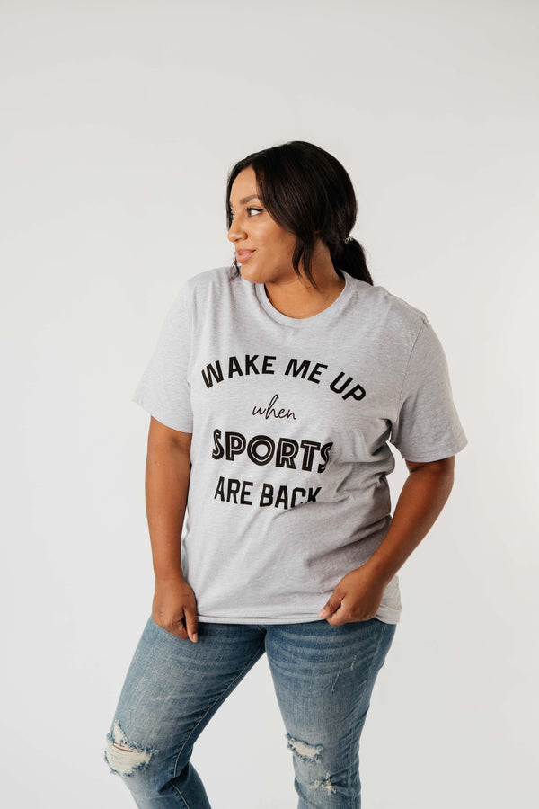 Ave Shops Womens Wake Me Up When Sports Are Back Graphic Tee