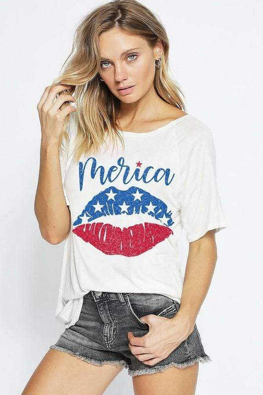Bibi Top 'Merica Graphic Tee