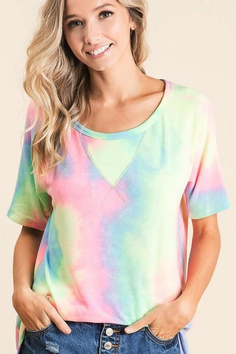 Bibi Top Summer Tie Dye Top
