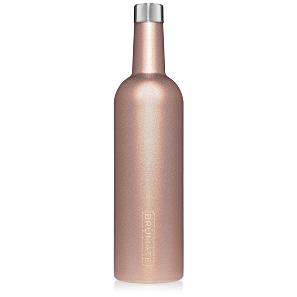 Brumate home Glitter Rose Gold BrüMate WINESULATOR™ 25OZ WINE CANTEEN