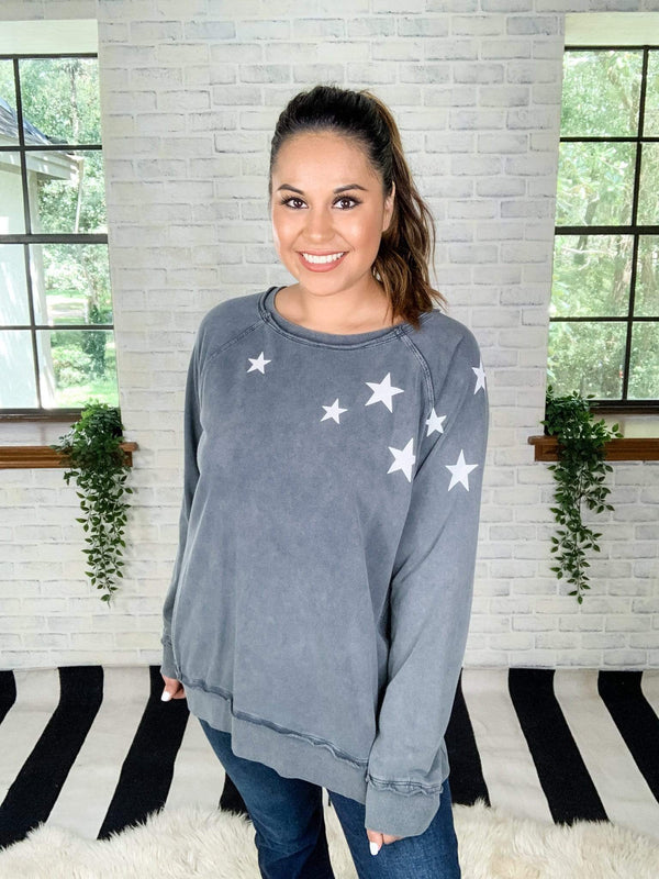 Easel Top Oh My Stars Pullover Top