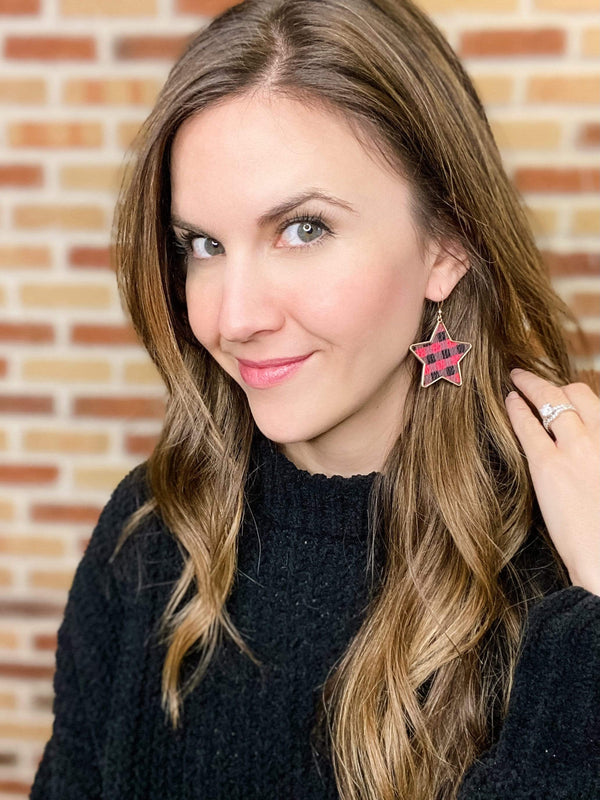 Joia Trading jewelry Plaid Star Earrings