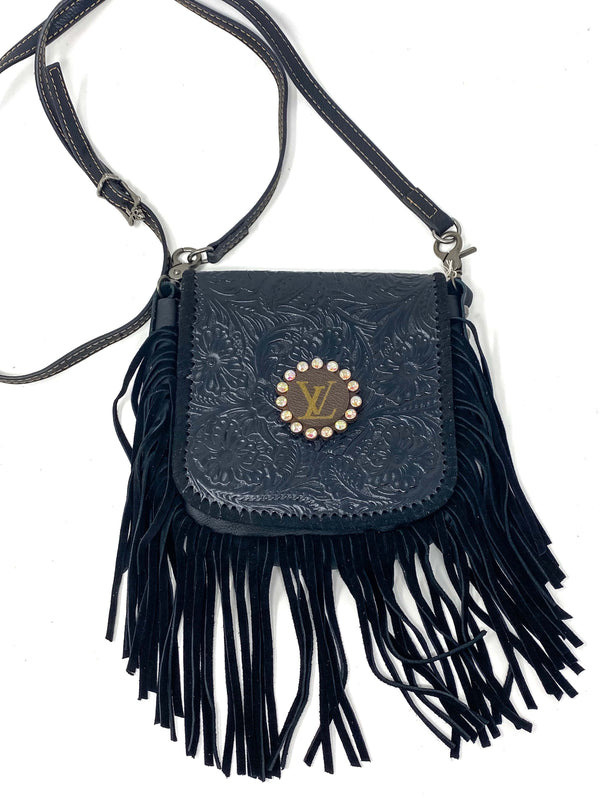 Keep It Gypsy Accessories Upcycled LV Fringe Bling Crossbody