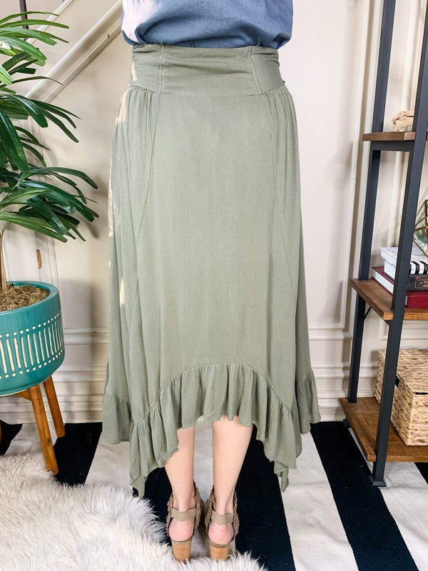 Kori America Bottoms Olive You Ruffled Skirt