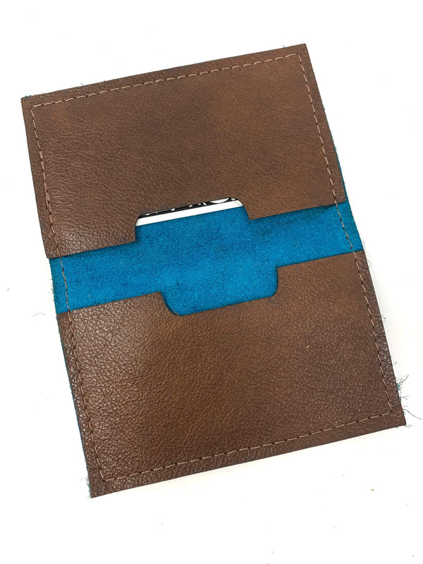 LV Credit Card Holder Non LV Turquoise Acid Hide CC Holder