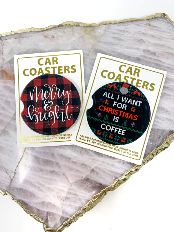 Mugsby Wholesale home Holiday Car Coasters
