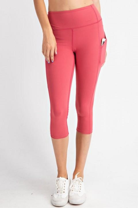 Rae Mode bottoms Coral / S Capri Yoga Leggings