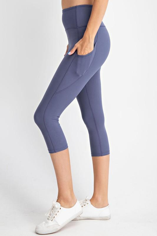 Rae Mode bottoms Denim / S Capri Yoga Leggings