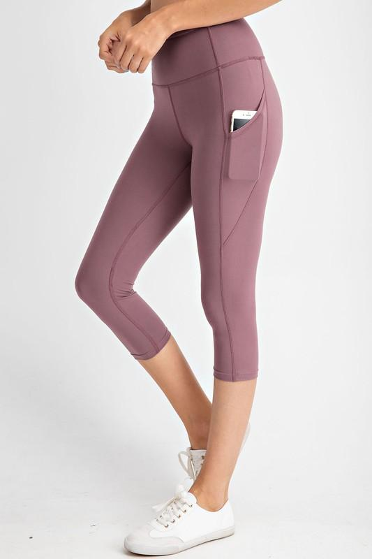 Rae Mode bottoms Mauve / S Capri Yoga Leggings