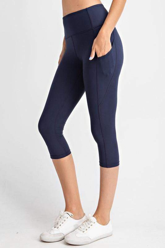 Rae Mode bottoms Navy / S Capri Yoga Leggings