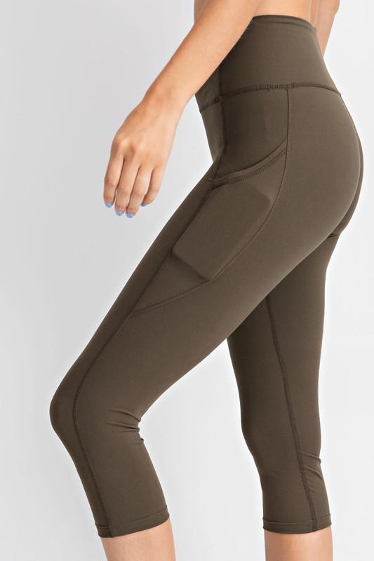 Rae Mode bottoms Olive / S Capri Yoga Leggings