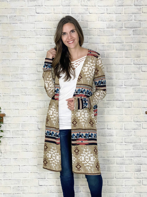 Sew In Love Layering Nights In Navajo Cardigan