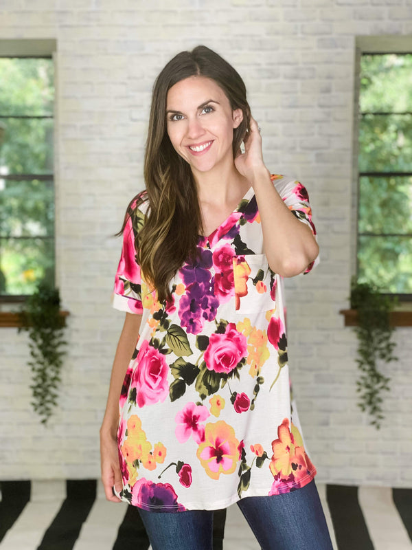 Sew In Love Top Fabulously Floral Top