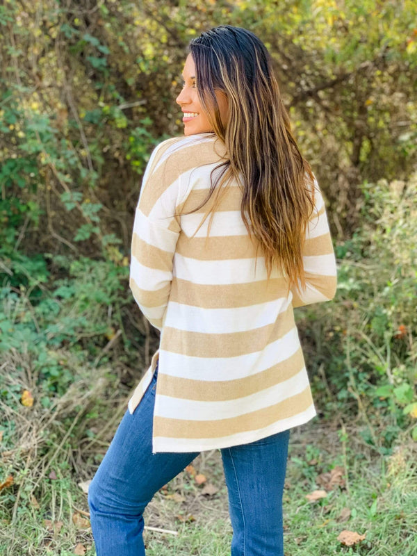 Sew in Love Top Warm and Cozy Striped Top