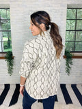 She + Sky Jacket Eyes On You Snake Print Jacket