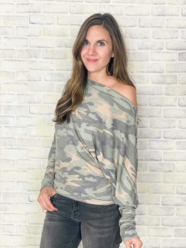 White Birch tops Spice Up Your Camo Top