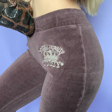 Juicy Couture Y2K Brown Velour Track Pants
