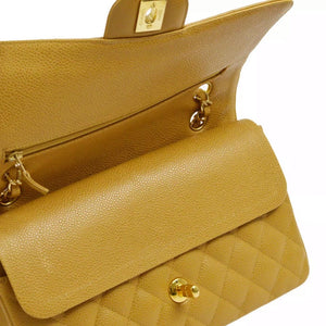 Chanel Classic Double Flap in Tan Caviar Leather