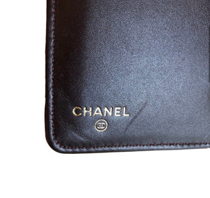 Chanel Black Caviar Yen Wallet