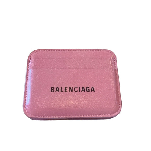 Balenciaga Pink Glitter Card Holder