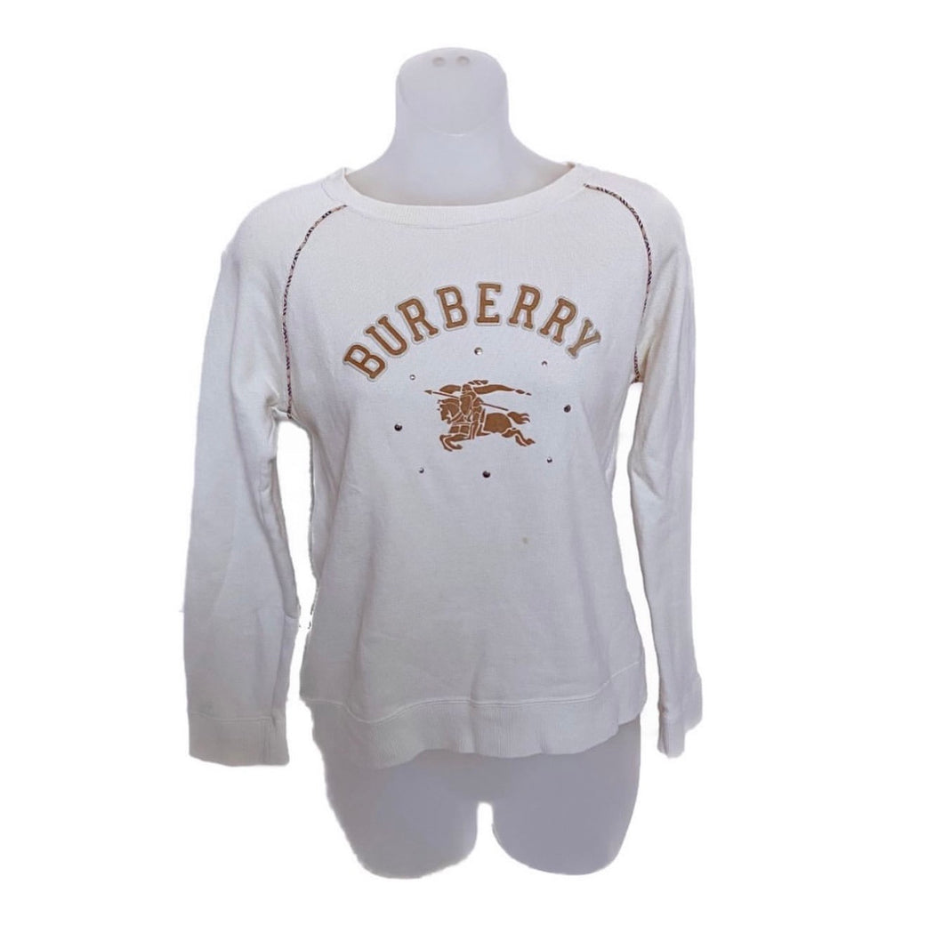 Burberry Cream Crewneck Sweatshirt