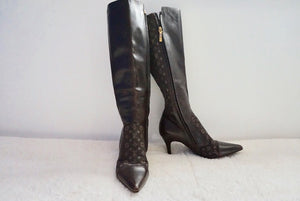 Louis Vuitton Monogram Under Knee Boots