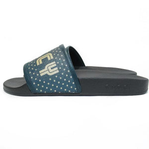 Gucci Green Star Detail Guccy Slides
