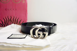 Gucci Men's leather belt with double G Buckle