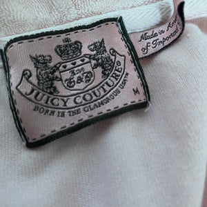Juicy Couture Terry Towel Short Sleeve Zip-Up Hoodie