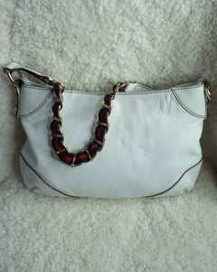 Gucci Vintage white shoulder bag
